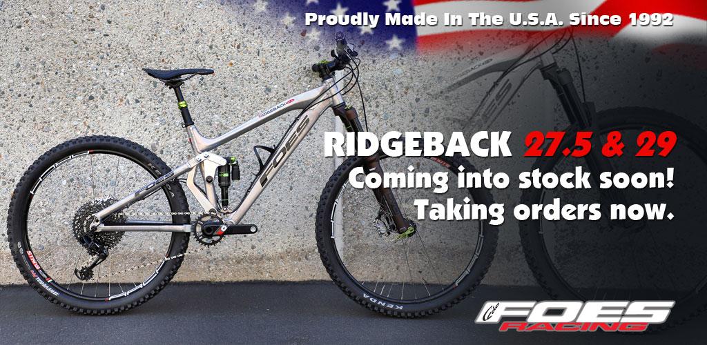 New! Foes Ridgeback 27.5 & 29